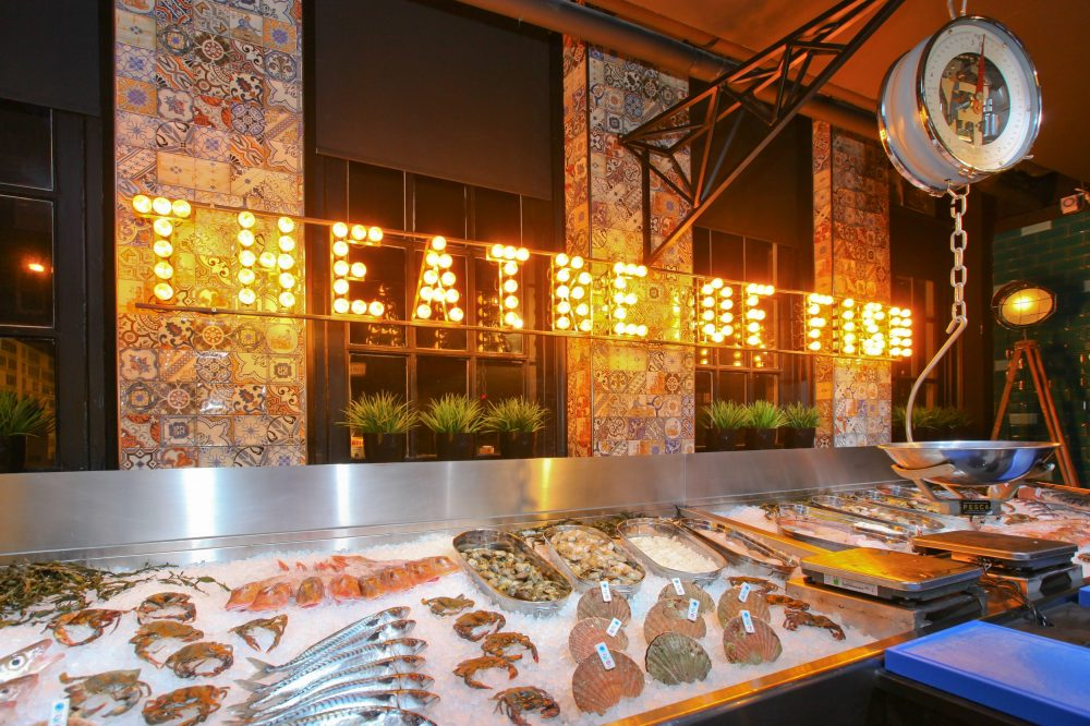 Led-bollen theatre of fish