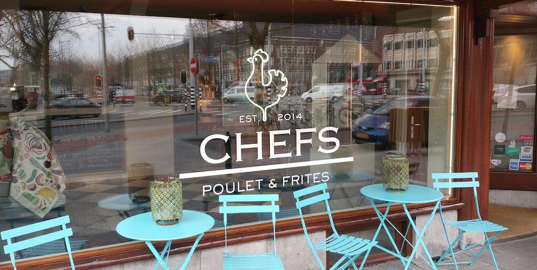 raambelettering chefs poulet & frites sticker logo