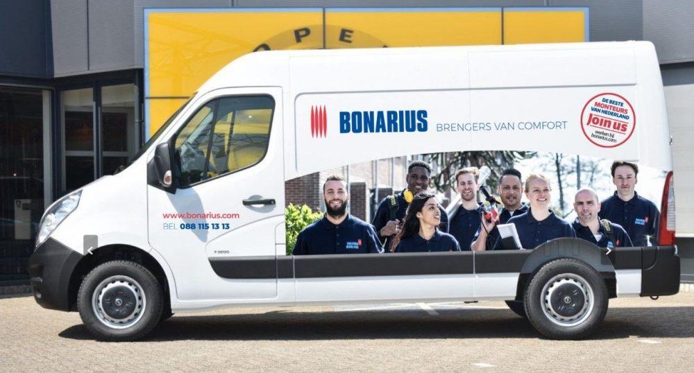 Bus belettering Bonarius