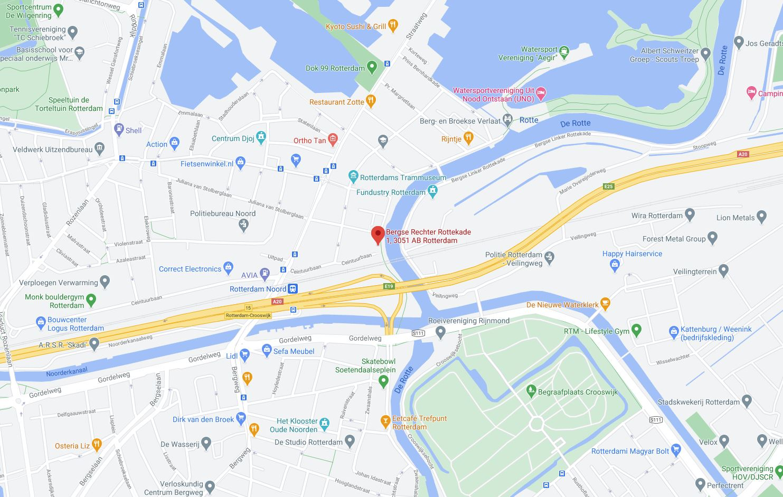 Maps adres rotterdam