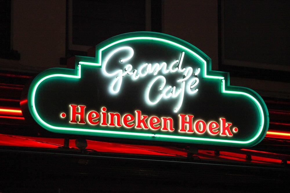 neon grand cafe heineken hoek