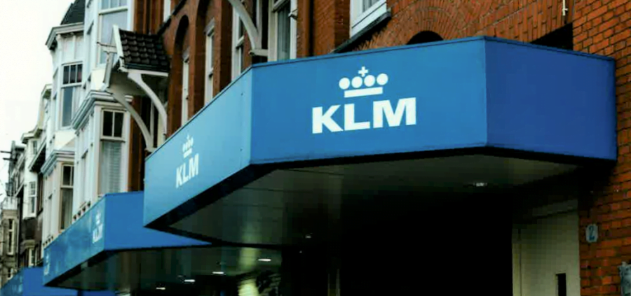 KLM lichtreclame
